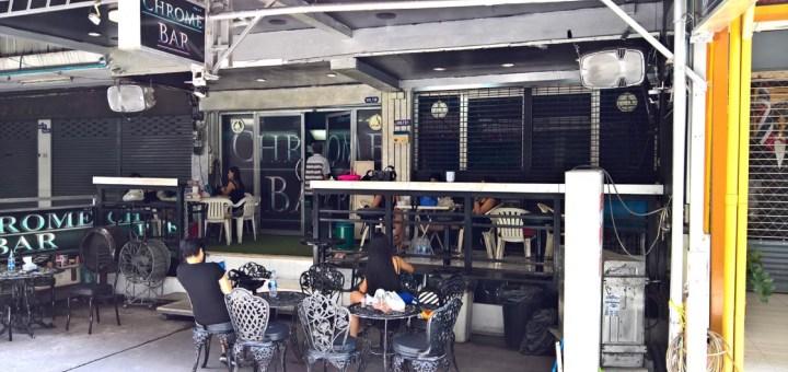 Outside Chrome Bar in Bangkok