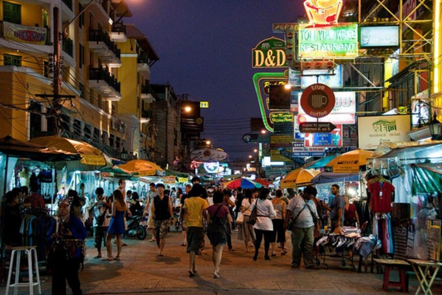 Khao San Road Nightlife in Bangkok