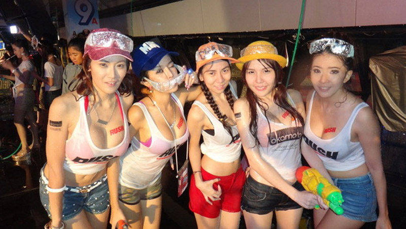 Wet Girls during the Songkran Festival