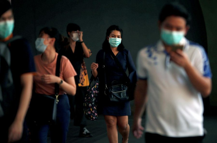 Girl wearing Coronavirus Mask