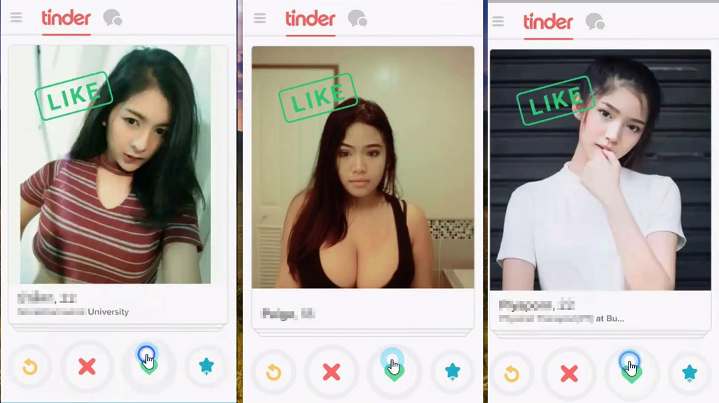 Girls in Thailand on Tinder