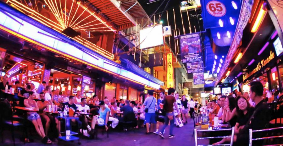 Red Light District in Bangkok Thailand Bars